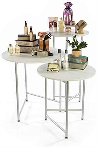 Trade Show Cocktail Table Set, Nesting