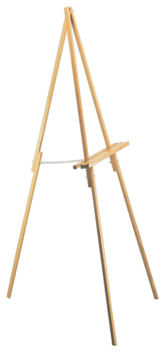 Portable Easel Folding Design With Light Oak Finish
