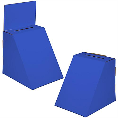 Blue Cardboard Suggestion Box