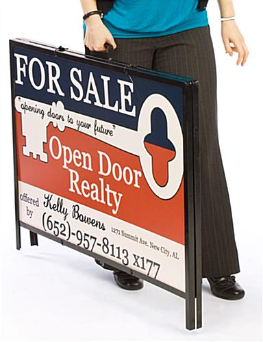 "Yard Sign Holds 36"" x 24"" Real Estate Or Political Campaign Signage On Lawn Or Sidewalk"