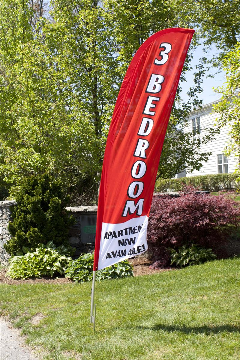 These Banners Realtor Flags Come With Pole Ground Spike