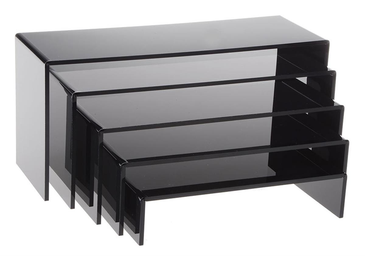 Black Riser Set Acrylic Countertop Shelves