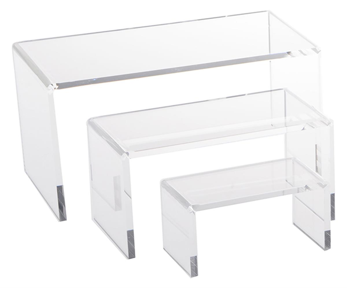 Clear Acrylic Riser Sets Includes 3 Platforms
