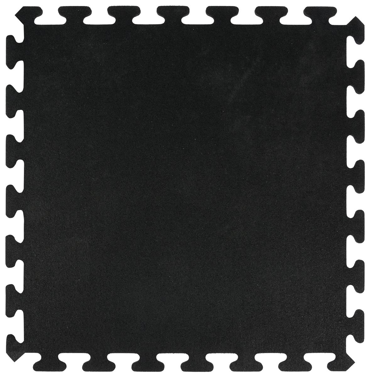 Trade Show Rubber Floor Mats Black Interlocking Tiles