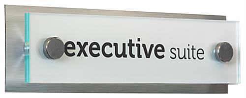 Acrylic Plate Door Signs Through Grip Caps