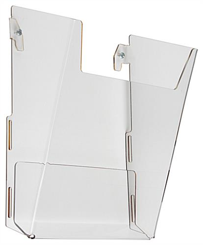 Rotating Grid Rack with Literature Holders Includes Half View Pockets