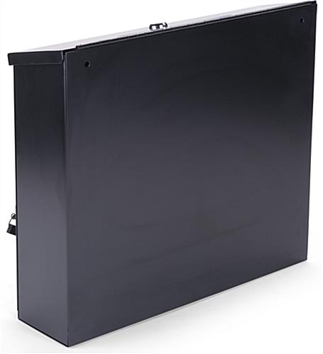 Wall Mount Black Donation Box