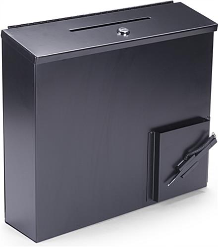 Black Donation Box with Paper Holder and Pen