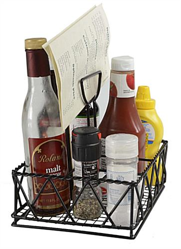 Wire Table Top Caddy WIRE Center - Table top caddies for restaurants