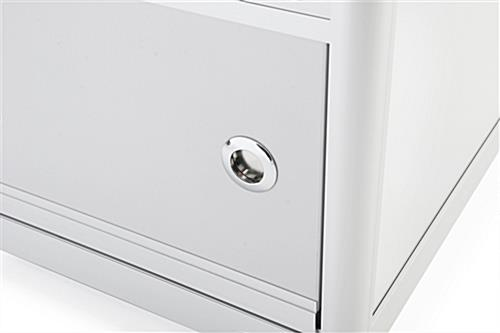 Silver Knock Down Display Counter Concealed Storage