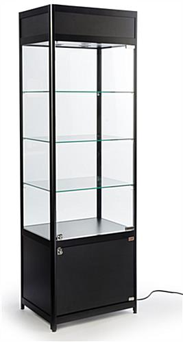 Knock Down Tower Display Case Rectangluar Design