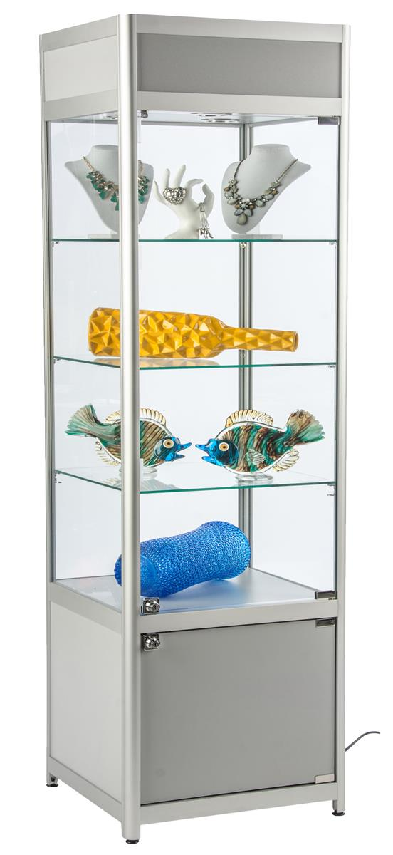 Led Retail Display Cabinets Glass Store Fixtures