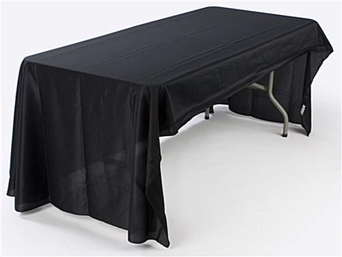 8ft Economy Table Throw-Black