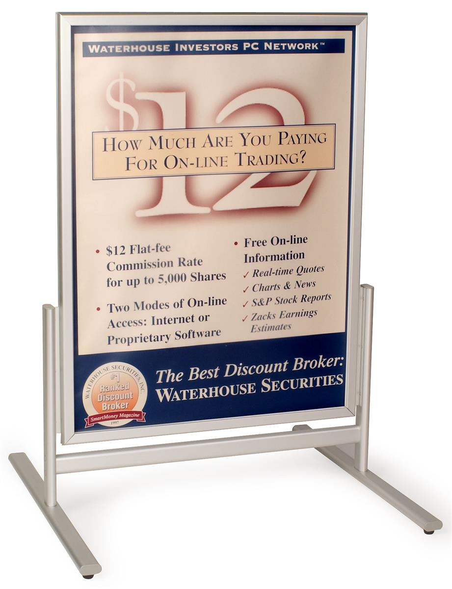 Pavement Signs | Exterior Rated Aluminum Poster Holders