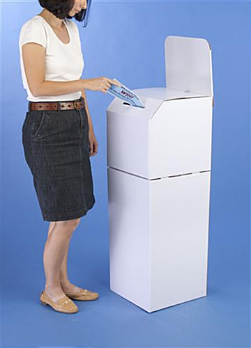 These Floorstanding Corrugated Ballot Boxes Can Be Used On