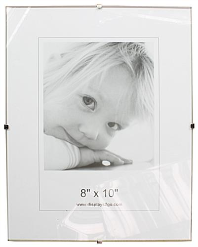 Clip Picture Frame - Wall Mounting Frameless Design
