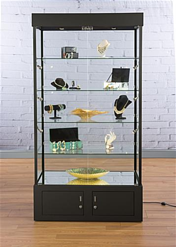 Black Display Case Propped