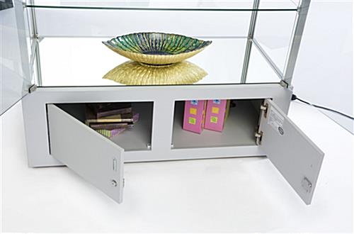 Silver Display Case with Bottom Storage