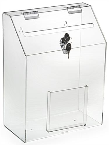 Clear Suggestion Box with 1 Pocket - Acrylic