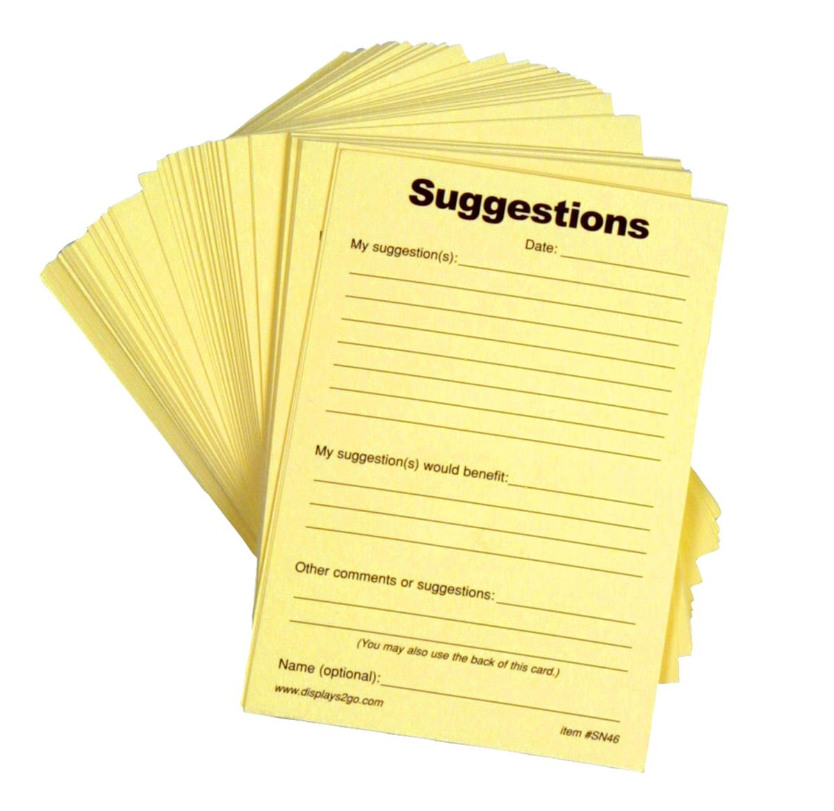 Suggestion Forms Pad Of 100