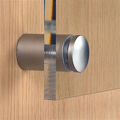 Wall Display Systems Satin Silver Standoffs For Upscale
