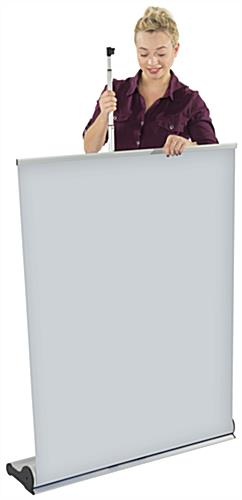 Retractable Vertical Banner Stand, Aluminum