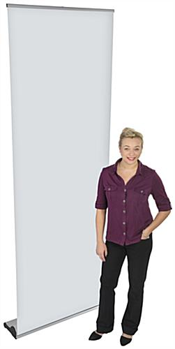 Retractable Vertical Banner Stand, Floor Standing