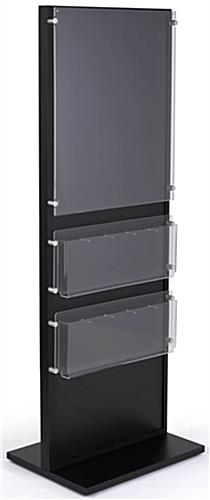 Black Wood Standing Frame with Brochure Holder with Poster Panel