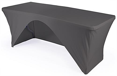 Incroyable Folding Table With Black Stretch Cover Folding Table With Black Stretch  Cover ...