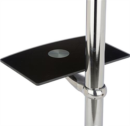 Stainless Steel Plasma Stand with AV Shelf