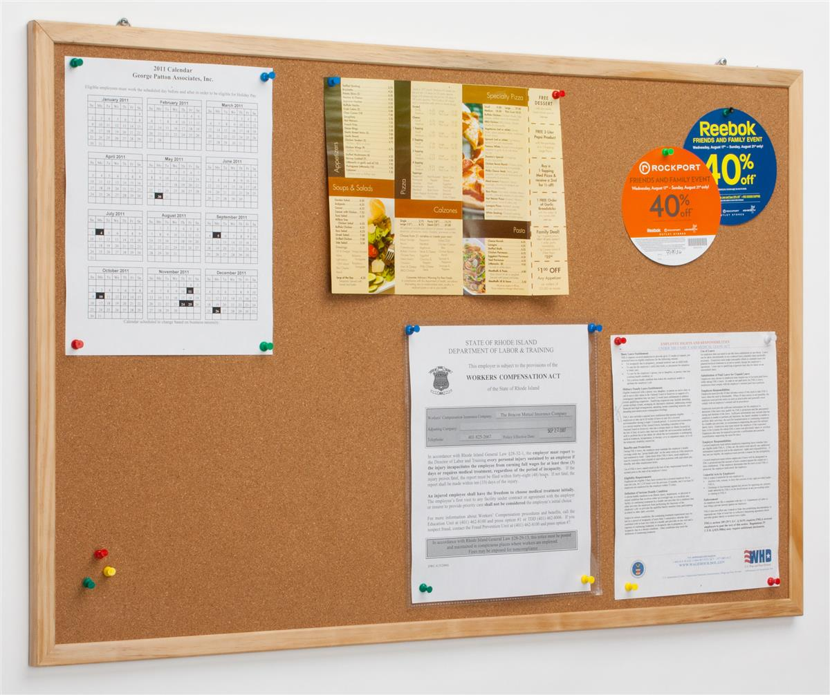 These cork pin boards are a great way to display any for Cork board pin display