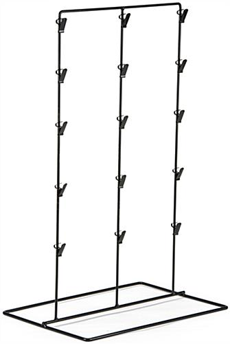 Clip Rack with 15 Hooks