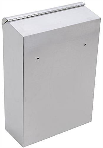 Stainless Steel Suggestion Box, Hardware Included