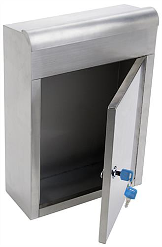 Stainless Steel Suggestion Box, Keys Included