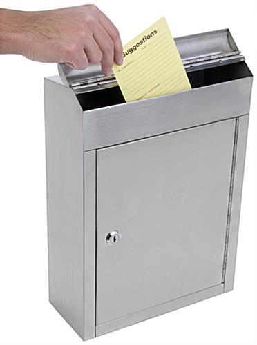 Durable Stainless Steel Suggestion Box