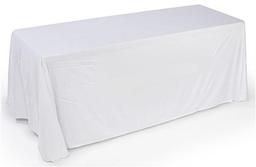white convertible table cover with custom printing