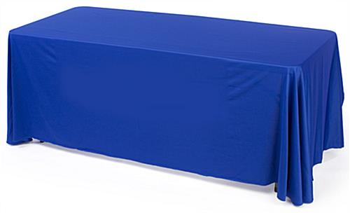 blue convertible table cloth with custom printing