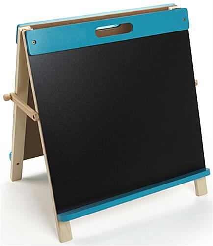 Kids Tabletop Write On Easels Handle For Easy Movement