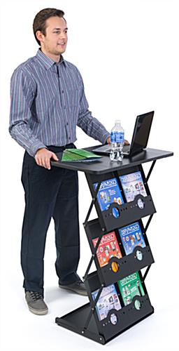 "Collapsible Magazine Counter with 28"" Wide Tabletop"