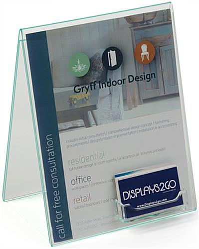 "8.5"" x 11"" Bent Acrylic Sign Holder"