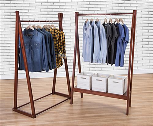 Wooden A Frame Clothes Rail 1 Hanging Garment Rod