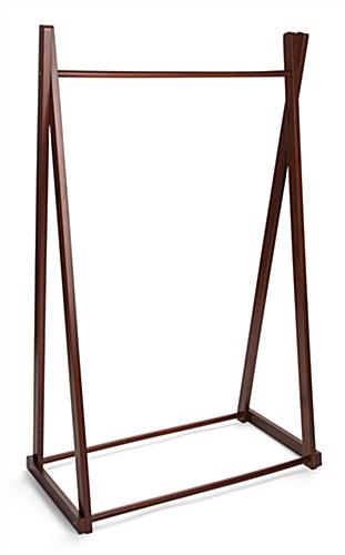 Teepee Clothing Rack | Wood Stand With Cherry Stained Finish