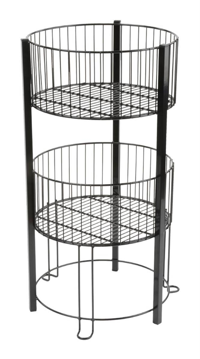 This 2 Tier Basket Stand Is Ideal For Displaying A Variety