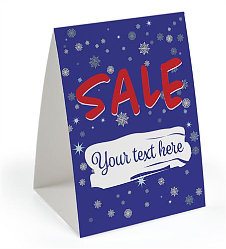 paper holiday promotional table tent 5 x 7 card stock