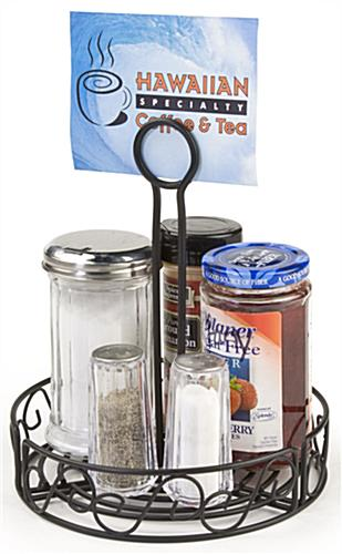 Table Caddies Includes Sign Holder