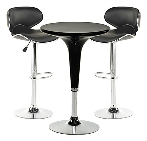 This chrome pub table set is modern furniture with a retro for Modern bar tables and chairs