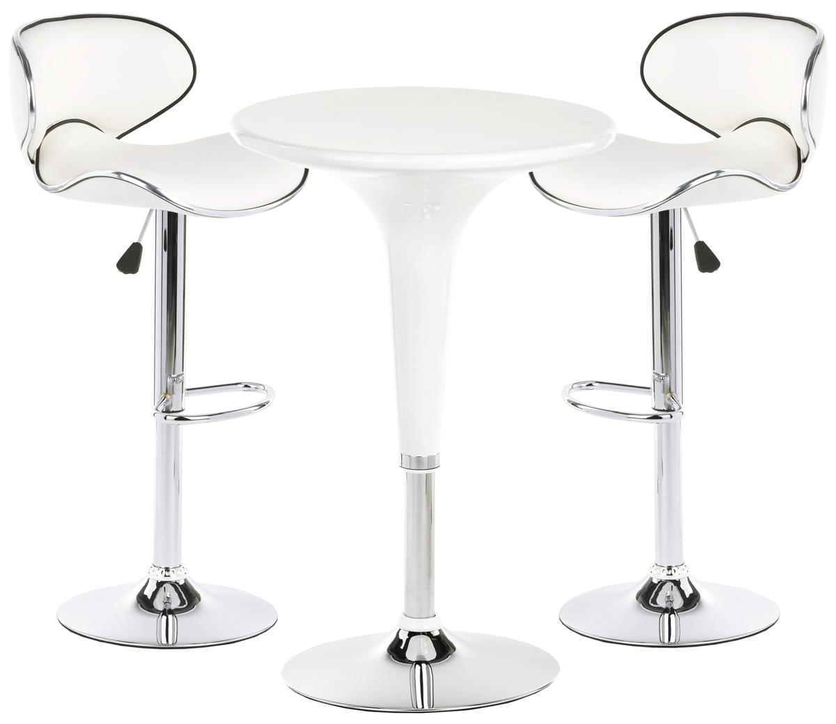 White Trade Show Table and Chairs | Modern Pub Style