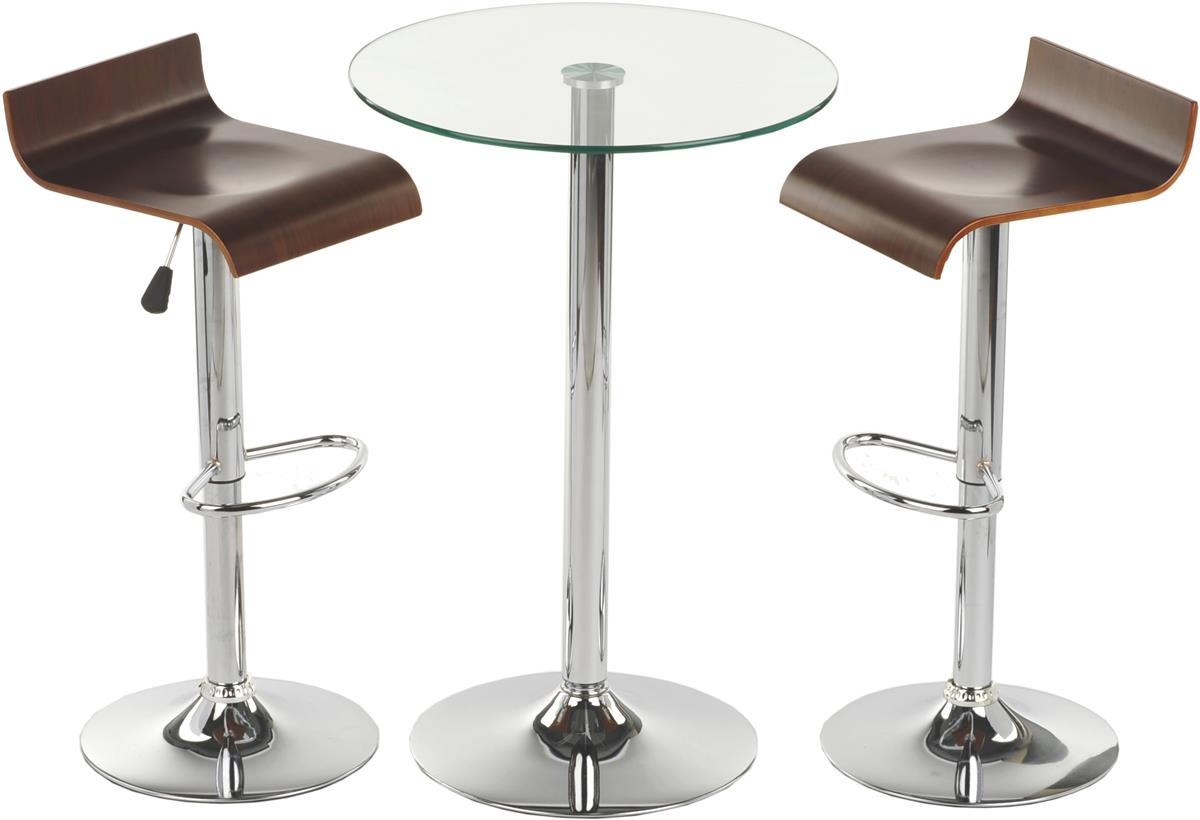 This glass high top table and chairs is modern furniture for dining this dinette collection is - High top dining tables for small spaces collection ...