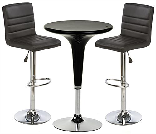 Bar stool and table sets round tabletop for Round cocktail table with stools