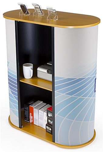 Modular Counter for Trade Show Made of MDF & Plastic